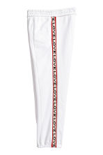 Joggers with side stripes - White -  | H&M 2